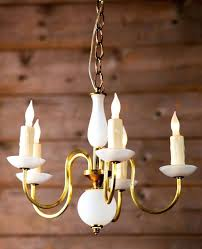 milk glass chandelier beautiful glass chandelier with brass arms circa wired for the with milk glass