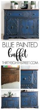 painting furniture ideas color. Blue Painted Buffet Makeover Painting Furniture Ideas Color T