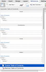 Table Of Contents And Table Of Authorities