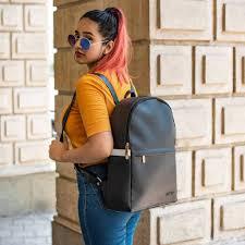 Yellow Designer Backpack Black Prime Backpack