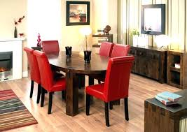 Red dining table set Red Leather Red Dining Room Chairs Glamorous Chair Inspiration For Trendy Cheap Sets Red Leather Dining Room Wearemark Bring Modern Touch Into Your Kitchen Or Dining Room With This Red