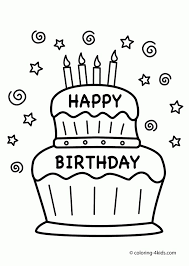 Coloring pages of birthday cakes. Get This Happy Birthday Coloring Pages Free Printable 41750