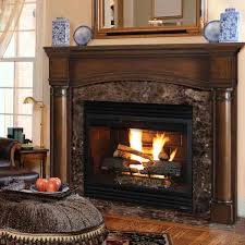 48 princeton distressed cherry finished fireplace surround by pearl mantels