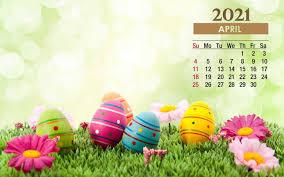 April 2021 Calendar Desktop Wallpaper ...