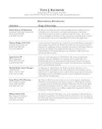 Sample Professional References Page Professional References On Resume Blaisewashere Com
