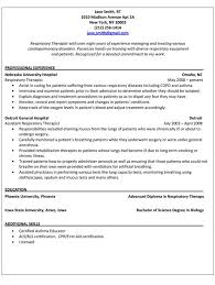 respiratory therapist student resume examples sample new grad templates  template