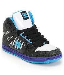 dc shoes high tops blue and black. dc rebound hi le black \u0026 purple zebra skate shoes dc high tops blue and