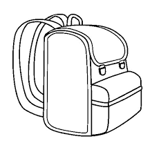 Small Picture Backpack coloring page Coloringcrewcom