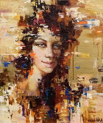 <b>Abstract girl portrait</b> #8 by Anastasiya Valiulina (2016) : <b>Painting</b> Oil ...