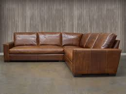 Our Braxton Mini  Tan Leather Sectional34