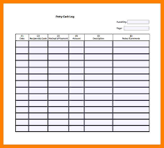 cash log template 10 petty cash log sheet coaching resume