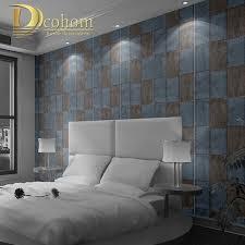 Plaid Bedroom Aliexpresscom Buy Modern Scottish Blue Red Plaid Wallpaper For