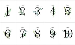 簡単手作りオシャレなボタニカルデザインのテーブルナンバー無料