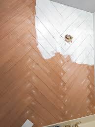 diy a herringbone wood wall on a budget
