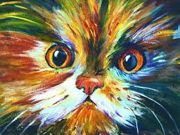 how to paint a colorful calico cat pawgustart 60 minute step by step tutorial