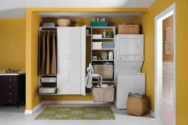 laundry room makeovers charming small. Laundry Room Design Charming Yellow Nuance With Closet F Makeovers Ideas Also Open Shelving Layouts For Small