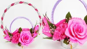 Paper Flower Bouquet Tutorial Very Easy Craft Learn How To Make Diy Paper Flower Bouquet