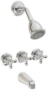 Retro Style Bath Shower Combination Tap Faucet Dual Handle Shower Bath Shower Combo Faucet