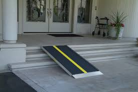 image of a portable ramp for a home