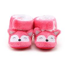 <b>Delebao New Design Lovely</b> Pink Fox Pattern Boots Unisex First ...