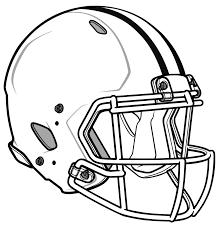 free coloring pages of blank football helmet
