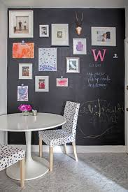 hard working chalkboard accent wall