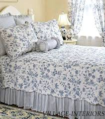 blue and white toile bedding french country blue white cal king king quilt cotton navy blue