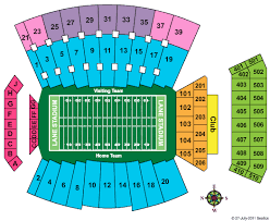 Clemson Memorial Stadium Seating Chart Seat Numbers Virginia Tech Football Stadium Seating Chart Google Search