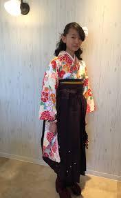 小学生の卒業式 着付けハーフアップ Angele名古屋市中村区完全