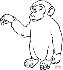 Small Picture Chimp Says Hi coloring page Free Printable Coloring Pages