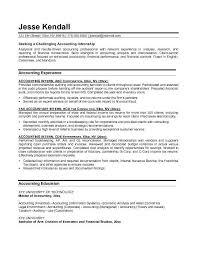 college intern resume