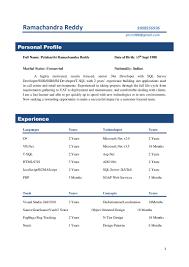 Sample Resume For Net Developer With 4 Year Experience Virtren Com