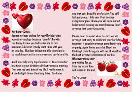 Birthday Paragraph For Her Sample Birthday Letters For Girlfriend