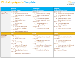 Workshop Agenda Template Microsoft Word Workshop Agenda Template