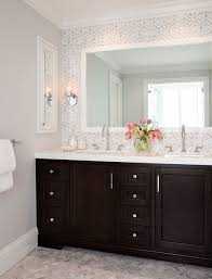 white bathroom cabinets gray walls. presidio terrace | inspiration for a beautiful transitional bathroom in san francisco with recessed-panel · wall colorswallpaper white cabinets gray walls g
