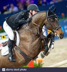 AMSTERDAM, NETHERLANDS - JANUARY 25: Jos Verlooy of Belgium riding Fabregas  at Grand Prix of Amsterdam - Jumping Amsterdam on January 25, 2020 in  Amsterdam. (Photo by Thomas Reiner/ESPA-Images Stock Photo - Alamy