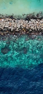 Download 1125x2436 wallpaper blue green ...