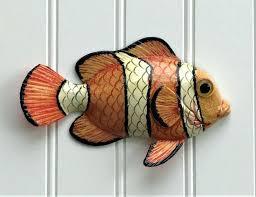 fish wall decor fish wall decor larger image painted metal fish wall decor