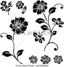 Rosa Vettore Set Fiore