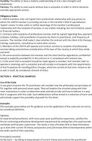 the ukata code of ethics and the requirements and ukata members shall not exploit their professional relationship any person to whom the ukata member