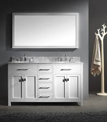 48 double sink vanity. modern white 48 inch double sink vanity with carera marble top and handle stainless n