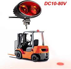 Forklift Dash Warning Lights Fuguang Led Forklift Safety Light 8w Red Spot Light Warehouse Safe Zone Warning Security Indicator Light Dc10v 80v Wide Voltage Cree Chip 8w Square