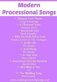 wedding recessional songs. Processional Songs Wedding Ceremony Songs