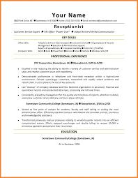 Front Desk Receptionist Resume Sample Hotel Front Desk Resume Sample Office For Receptionist Examples 52