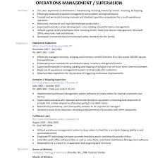 Resumes Warehouse Resume Objective Tech Job Description Supervisor