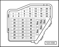 volkswagen workshop manuals > golf mk4 > power unit > simos pull fuse no 32 out of fuse holder