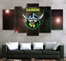 hd printed 5piece home decor canvas art nrl logo team raiders rugby painting prints poster cartoon wall pictures for living room in painting calligraphy  on canberra raiders wall art with hd printed 5piece home decor canvas art nrl logo team raiders rugby