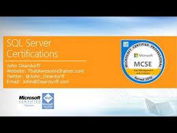 Microsoft Mvp Certification Microsoft Sql Server Certifications 2017 Youtube