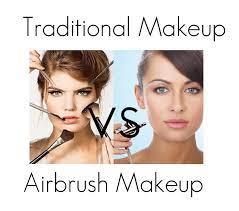 airbrushing vs traditional makeup