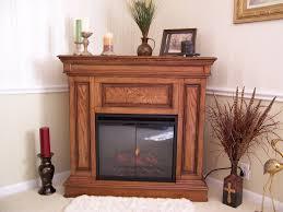 phoenix 23in premium oak electric fireplace cabinet corner mantel package
